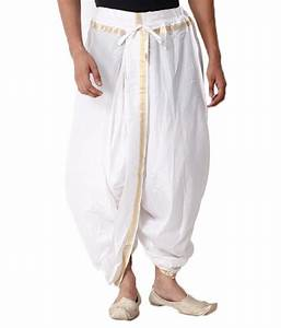 Dhakeshwari White Ready To Wear Dhoti Best Deals With
