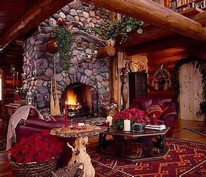 christmas fireplace-in my mountain dream home Home