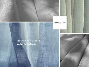 RIDEAUX SUR MESURE EN VOILE DE LIN BLANC Catalogue