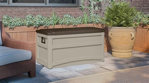 suncast deck box with seat and wheels 10 best garden storage solutions and ideas planted well