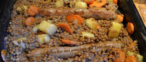 cuisiner saucisse de toulouse lentilles bio aux saucisses de toulouse kaderick en kuizinn