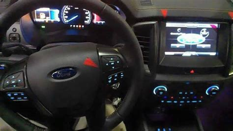 ford ranger facelift shows   interior