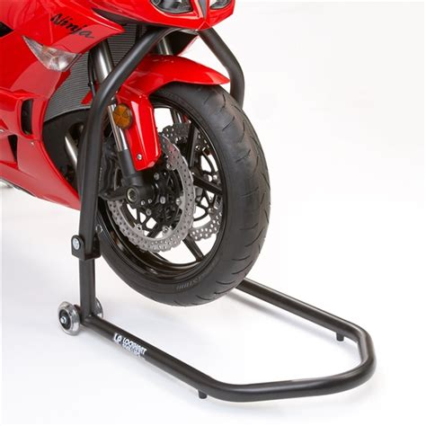front steel race stand black
