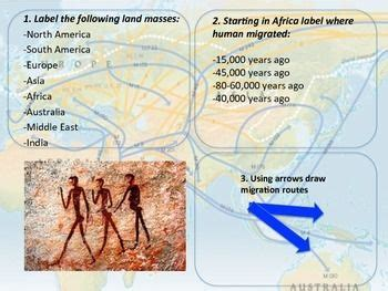 early human migration map activity map activities