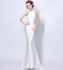 elegant white bodycon mermaid wedding dress illusion back With white elegant wedding dresses