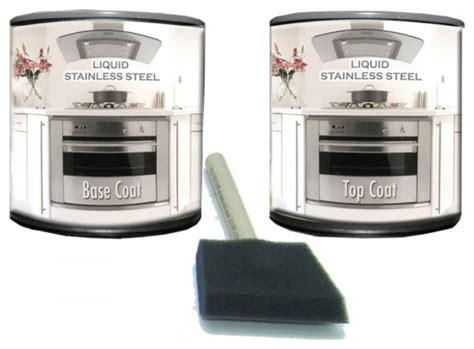 Liquid Stainless Steel Paint Range/dishwasher Kit Kitchen Table Lights Bathroom Cabinet Light Shaver Socket Bronze Fixtures Lighting Bathrooms Vents With Clearance Green Master Bedroom Designer Mirrors