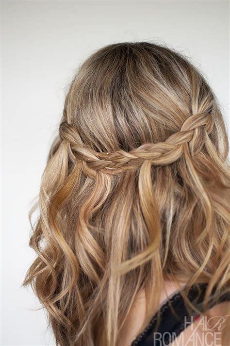 waterfall plait hairstyle tutorial braid romance hair