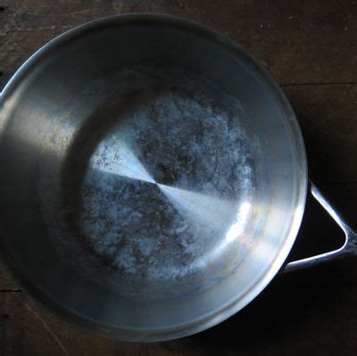 clean calcium deposits   stainless steel cookware