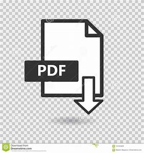 PDF Vector Icon On Transparent Background Stock Vector ...