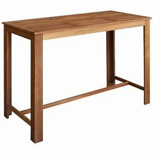 Table En Acacia : acheter vidaxl table de bar 150x70x105 cm bois d 39 acacia massif pas cher ~ Teatrodelosmanantiales.com Idées de Décoration