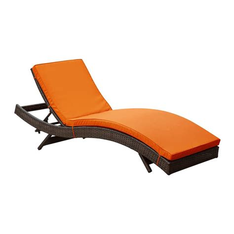outdoor chaise lounge chairs shop modway peer espresso rattan plastic stackable patio
