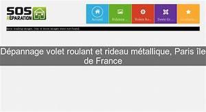 D U00e9pannage Volet Roulant Et Rideau M U00e9tallique  Paris  U00eele De