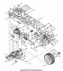 Mtd 14ar807p131  2001  Parts Diagram For Drive  Wheels