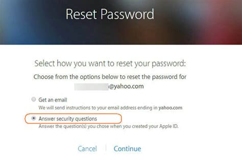 how to reset security questions on iphone recover icloud password by answering security questions