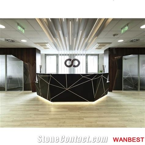 luxury artificial marble solid surface diamond shape black