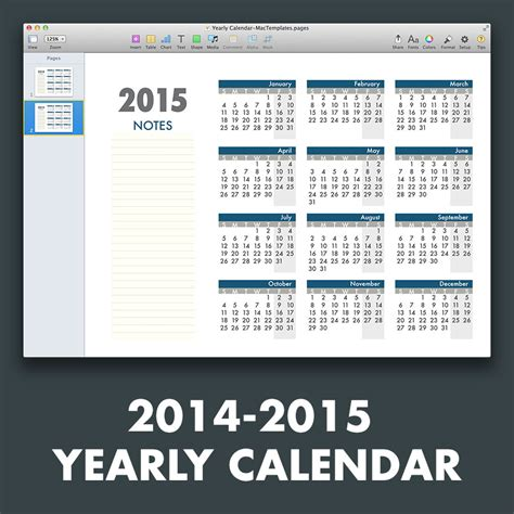 annual calendar template yearly calendar template for pages and pdf mactemplates