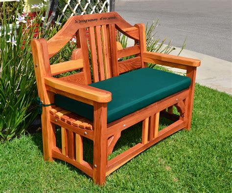 engraved garden benches engraved outdoor wood bench forever redwood