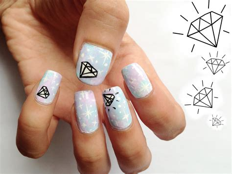 30 Beautiful Diamond Nail Art Designs