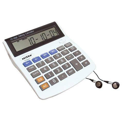 Blind Calculator by Maxiaids 10 Digit Talking Calculator Earphone Talking Alarm