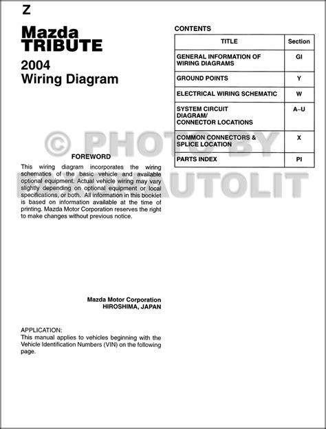 car engine manuals 2004 mazda tribute auto manual 2004 mazda tribute wiring diagram manual original