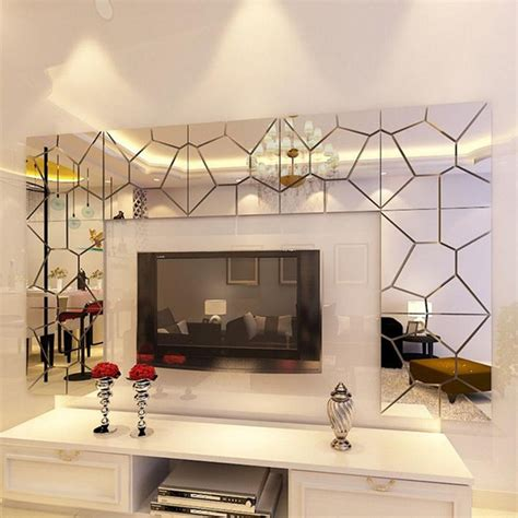 home interiors mirrors 18cm 7pcs diy acrylic modern mirror decal mural wall