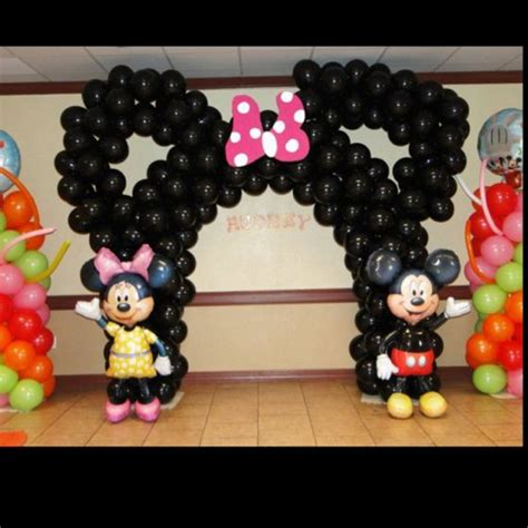 Mickey And Minnie Balloon Decorations - mickey mouse clubhouse ballon arch decor minnie mouse