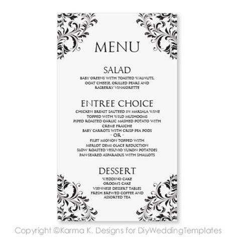 wedding menu card template instantly by karmakweddings