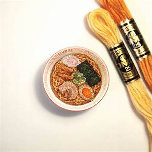 Textile artists stitches life like miniature food for Embroideries by ipnot