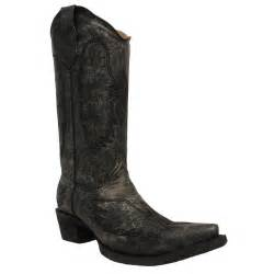 womens corral boots size 9 womens circle g boots corral distressed black wing and cross embroidery l5066 ebay