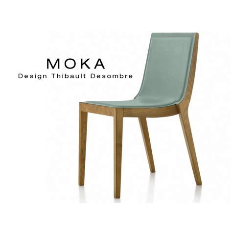 chaise en bois chaises design bois moka assise et dossier garnis