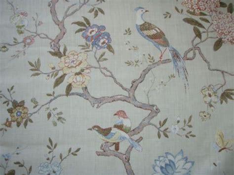 gp  baker curtain fabric design oriental bird