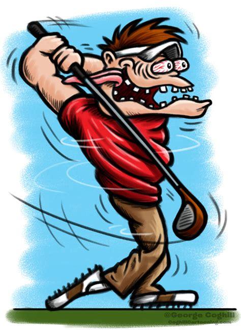 golfer hot rod cartoon character sketch coghill cartooning