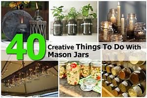 40, Creative, Things, To, Do, With, Mason, Jars
