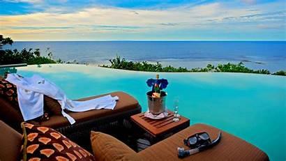 Infinity Pool Ocean Overlooking Desktop Sea Background