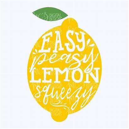 Lemon Squeezy Peasy Svg Easy Lemons Summer