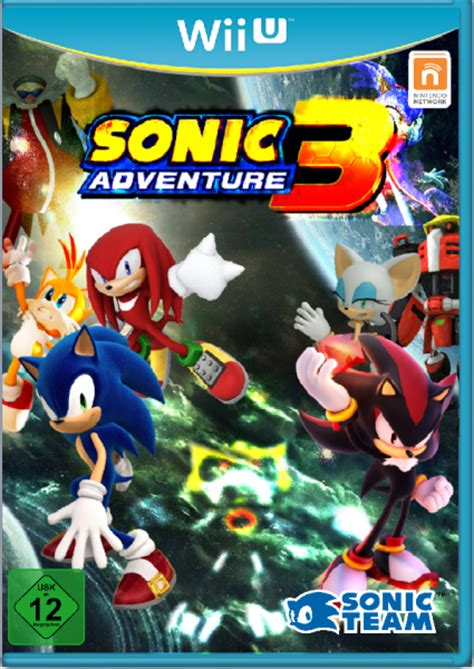 sonic adventure  rise  metal  wii  box art cover