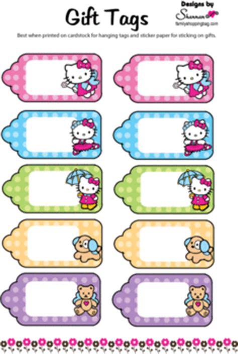 kitty printable tags  kitty gift tags