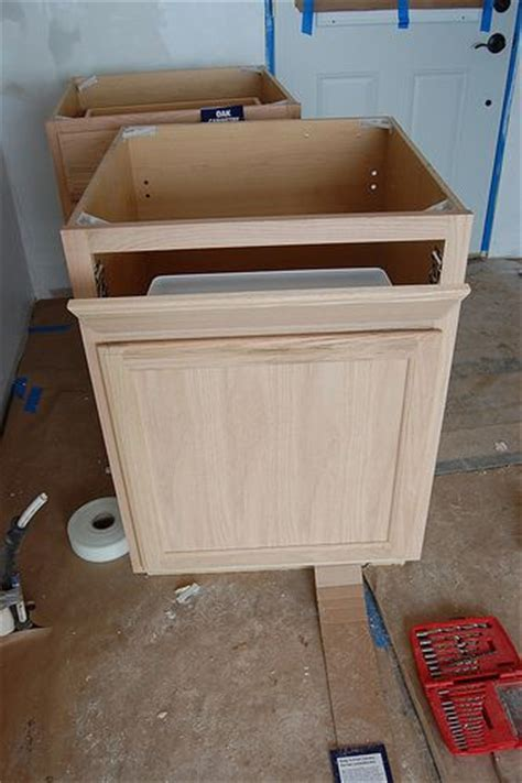 how to convert a base cabinet into a sink base. And how to