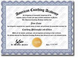 The american coaching academy online coaching for Cpe certificate template