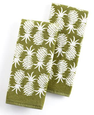 tommy bahama pineapple l tommy bahama kitchen towels set of 2 pineapple pop