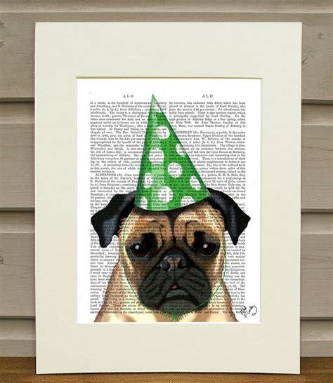 Pug Decor by Pug Wall Art Party Pug By Fabfunky Home Decor