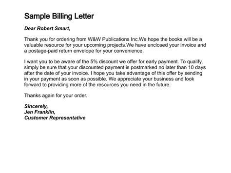 write  letter  billing