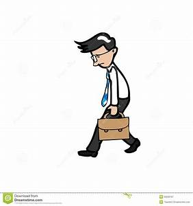 Businessman Walks Slowly And Tried Stock Vector - Image ...