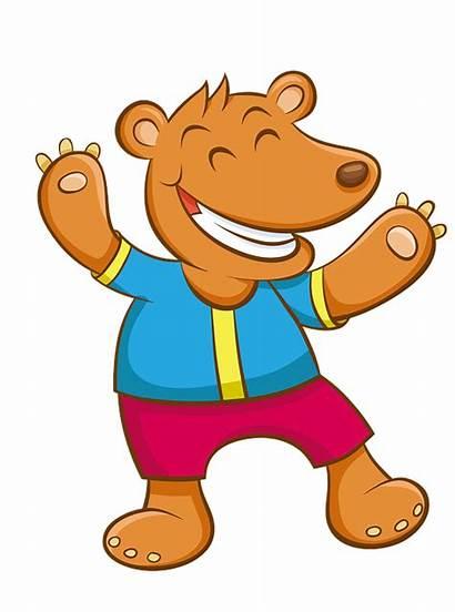 Cartoon Bear Zoo Happy Panda Dance Hand