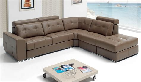 Beige Sleeper Sofa by Sectional Sleeper Sofa In Beige Top Grain Leather