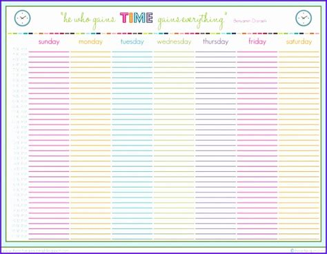 excel template schedule planner exceltemplates