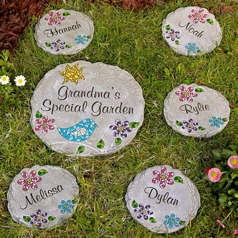 personalized garden stones stepping gifts