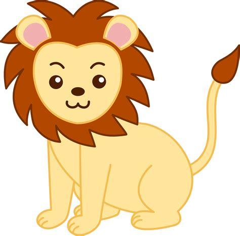 cute cartoon animals  golden lion clip art