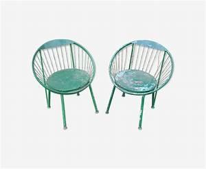 Fauteuil Fil Scoubidou : paire de fauteuils de jardin en m tal et fil scoubidou ~ Teatrodelosmanantiales.com Idées de Décoration
