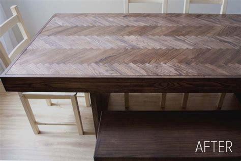 chevron wood table top part 1